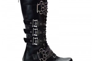 Shoes , Lovely Gothic Combat Boots Product Ideas : black  leather combat boots product Image