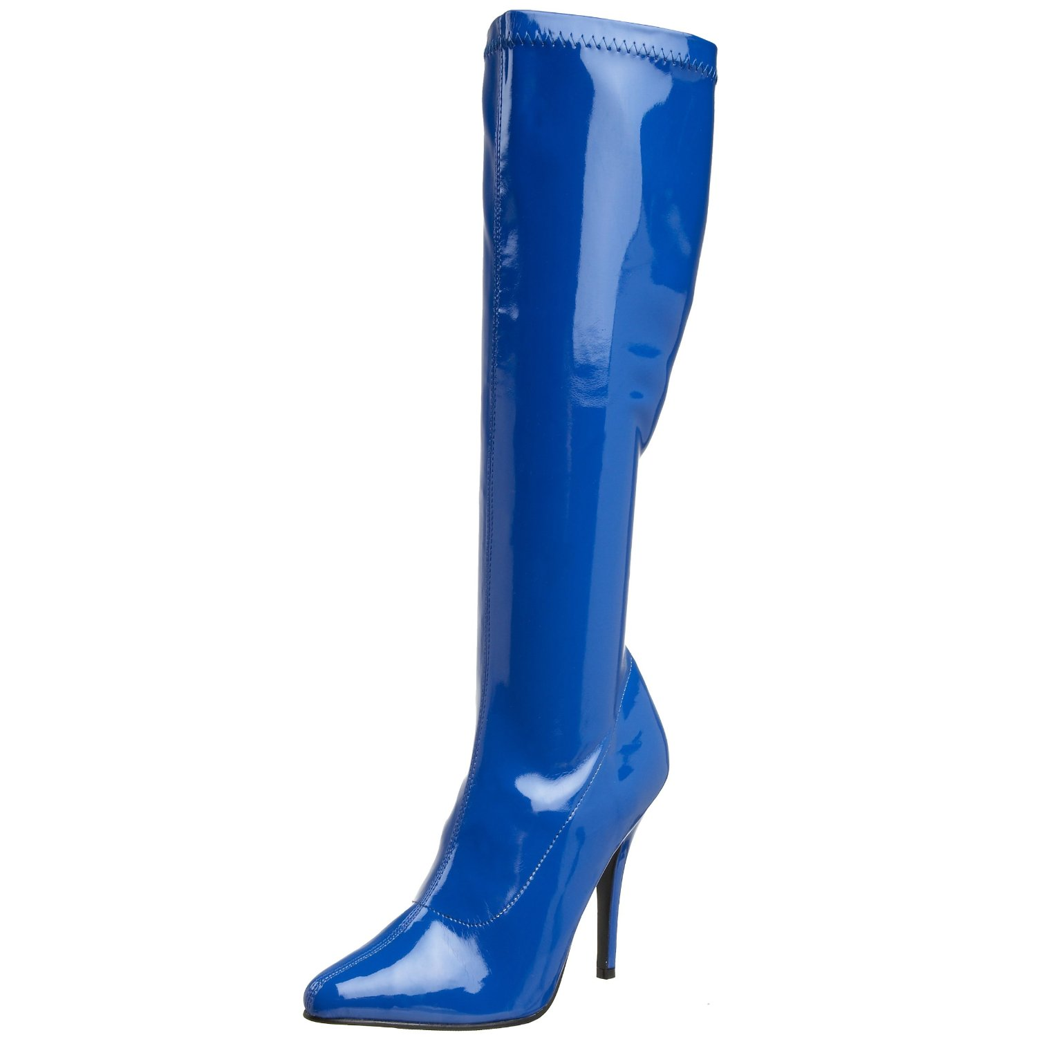 Blue Leather Boots For Women Collection Woman Fashion