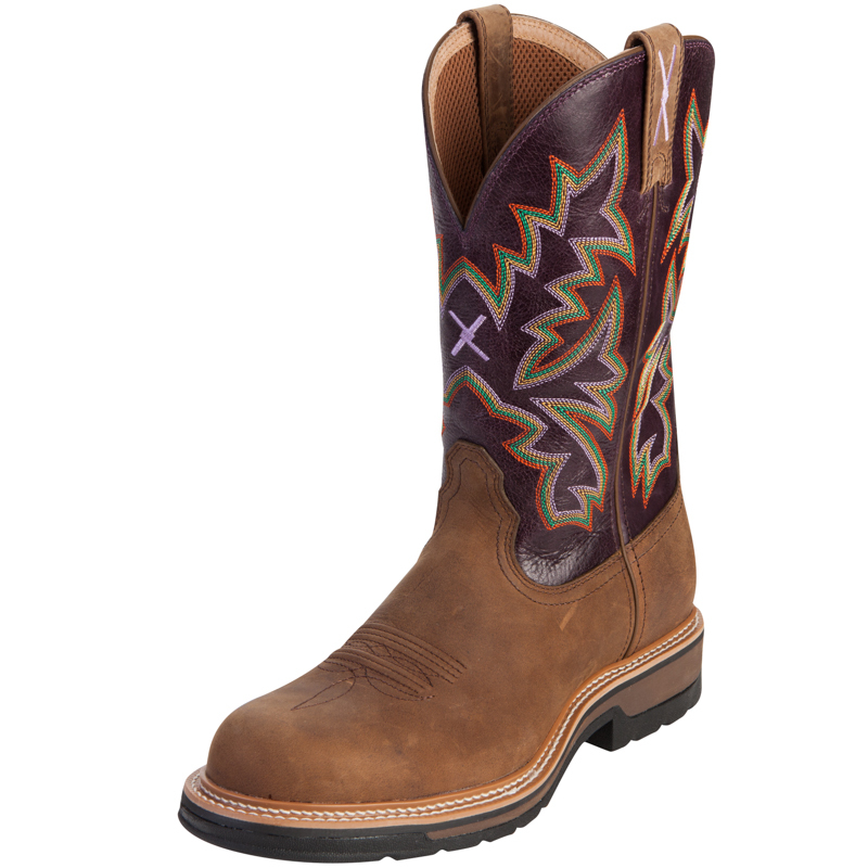 Shoes , Charming Purple Cowboy Boots Product Image :  Brown Cheap Cowboy Boots