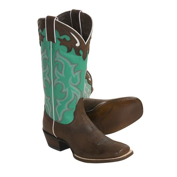 Shoes , Awesome  Classy Square Toed Cowboy Boots For Women  Product Image : Brown  Cowboy Boots Product Lineup