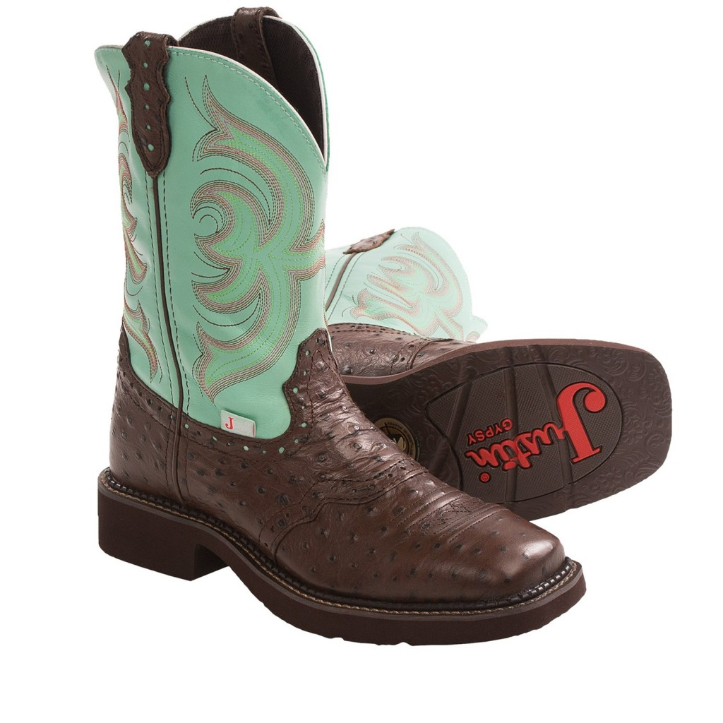 Shoes , Awesome  Classy Square Toed Cowboy Boots For Women Product Image : Brown  Girls Cowboy Boots Collection