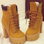 brown high heels for men product Image , Gorgeous Timberland High Heels product Image In Shoes Category