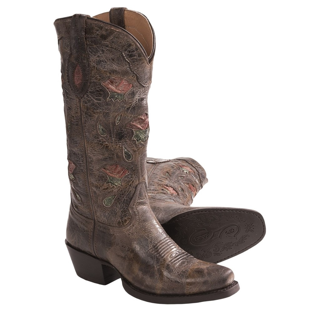 Awesome  Classy Square Toed Cowboy Boots For Women Product Image in Shoes