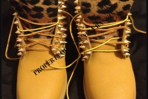 Shoes , Beautiful  Timberlands With Spikes For Women  Collection :  brown timberland boots on sale