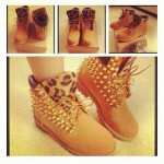brown  timberland outlet product Image , Beautiful  Timberlands With Spikes For Women Collection In Shoes Category
