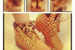 Shoes , Beautiful  Timberlands With Spikes For Women  Collection : brown  timberland outlet product Image