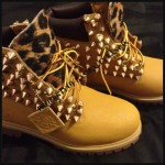 brown  timberland women boots , Beautiful  Timberlands With Spikes For Women  Collection In Shoes Category