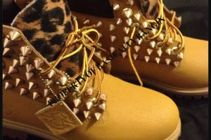 Shoes , Beautiful  Timberlands With Spikes For Women  Collection : brown  timberland women boots
