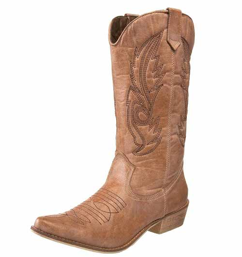 Shoes , Wonderful Cheap Cowgirl Boots Under Collection : Brown  Toddler Cowgirl Boots Product Image