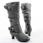 grey  high heel boots for girls Image Gallery , Breathtaking High Heel Boots For Kids Girls Image Gallery In Shoes Category