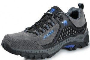 Shoes , Charming Hiking Boots Product Ideas : grey  leather hiking boots product Image