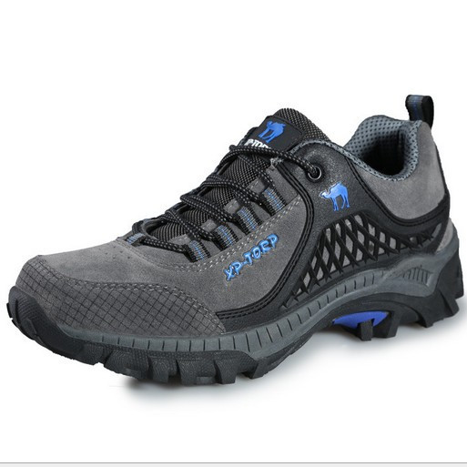 Shoes , Charming Hiking BootsProduct Ideas : Grey  Leather Hiking Boots Product Image