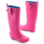 pink Women\'s Metal Buckle Rain Boots , Charming  Payless Rain Boots For WomensProduct Ideas In Shoes Category