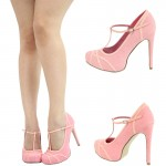 pink  high heels shoes Product Lineup , Gorgeous High Heels Pink Peach Product Ideas In Shoes Category