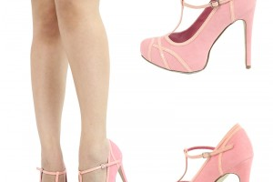 Shoes , Gorgeous High Heels Pink Peach Product Ideas : pink  high heels shoes Product Lineup