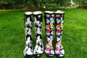 Shoes , Gorgeous Mickey Mouse Rain Boots Product Lineup :  polka dot rain boots Collection