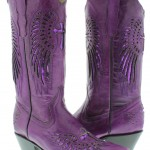 Purple  Womens Purple Cowboy Boots , Charming Purple Cowboy Boots Product Image In Shoes Category