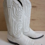 Charming white cowboy boots Photo Gallery : Woman Fashion ...
