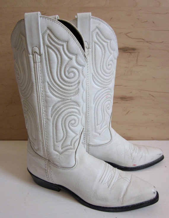 Shoes , Charming White Cowboy BootsPhoto Gallery : White  Cheap Cowboy Boots Image Gallery