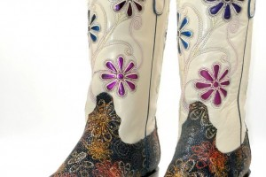 Shoes , Charming Wide Calf Cowboy Boots For Women Photo Gallery : white  womens extra wide calf cowboy boots Image Collection