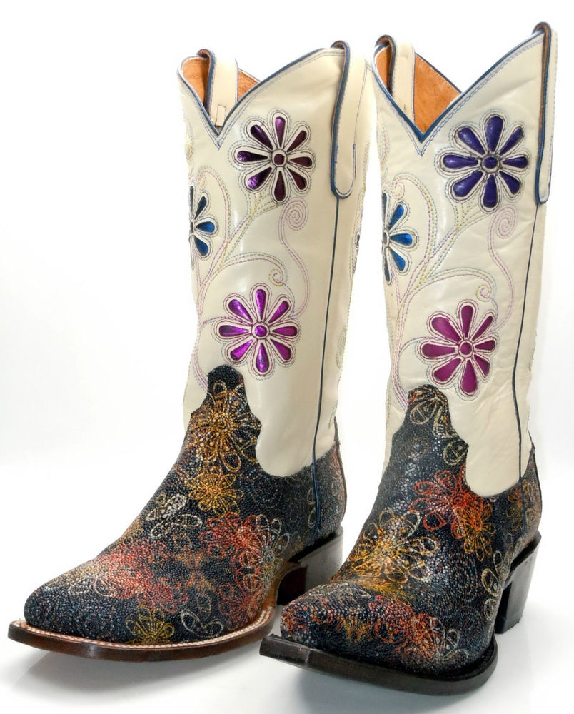 White Womens Extra Wide Calf Cowboy Boots Image Collection ...