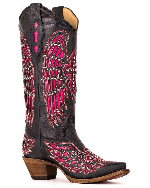 Shoes , Gorgeous Pink Cowboy Boots Picture Collection :  Women Cowboy Boots Photo Gallery