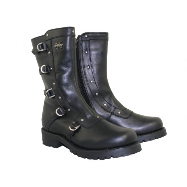 Shoes , Beautiful Black Moto Boots For Women Product Ideas : Women\'s Xelement Zipper Righteous Motorcycle Boot