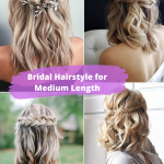 Bridal Hairstyle for Medium Length , Superb Medium Length Hairstyles For An Amazing Look In Hair Style Category