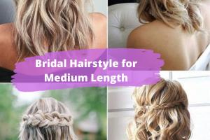 Hair Style , Superb Medium Length Hairstyles For An Amazing Look : Bridal Hairstyle for Medium Length